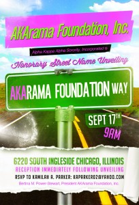AKArama Foundation, Inc. Street Sign Unveiling