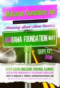 AKArama Foundation, Inc. Street Sign Unveiling